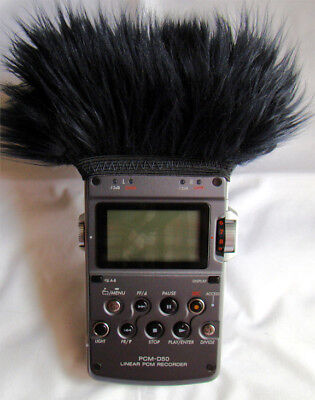 Fur Windscreen 4 Your Sony Pcm-d50 Or Sony Pcm D100 Handheld Recorder