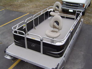 Electric Fishing Pontoon Boat Minn Kota Motor Ebay