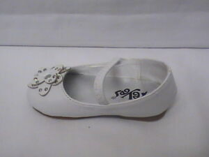 Baby Girl White Ballet Flat w//Flower INFANT size 1 53