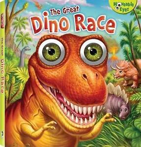 The-Great-Dino-Race-by-Hinkler-Book-Distributors-Hardback-Moveable-Eyes