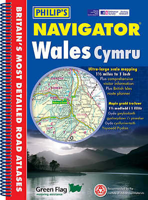 (Very Good)-Philip's Navigator Wales (Philip's Road Atlases & Maps) (Paperback)-