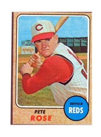 1968 Topps Pete Rose Cincinnati Reds 230 Baseball Card