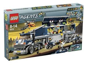 LEGO 2 vollständige Sets 8635+8967 Mobile Agents Mission 6 Mobile 8635+8967 Kommandozentrale TOP 2a744e