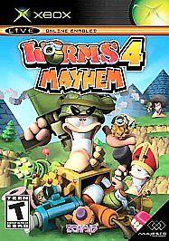 BRAND-NEW-SEALED-ORIGINAL-XBOX-Worms-4-Mayhem-Microsoft-Xbox-2005