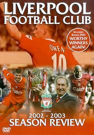 As New! Liverpool FC End of Season Review 2002/2003 2 DISC VERSION DVD LFC 02/03