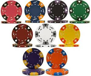 ace king tri color 14g poker chips