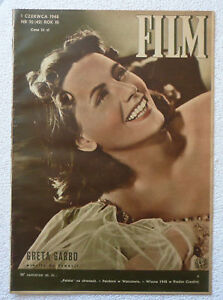 GRETA GARBO - polish magazine cover photo rare mag [1948 !!!] LOUIS JOUVET - <span itemprop=availableAtOrFrom>Gniezno, Polska</span> - GRETA GARBO - polish magazine cover photo rare mag [1948 !!!] LOUIS JOUVET - Gniezno, Polska