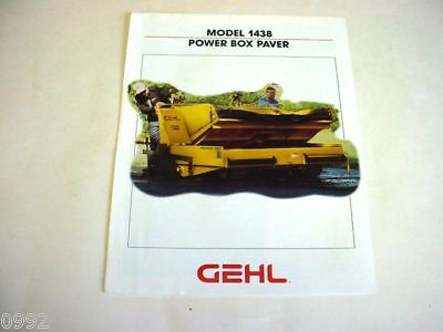 Gehl 1438 Power Box Asphalt Paver Brochure