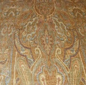 Beige-Print-Chenille-Fabric-Upholstery-Fabric-1-Yard-R133