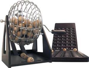 Boulier en métal + table de marquage en bois jeu LOTO BINGO + cartons 90 numéros