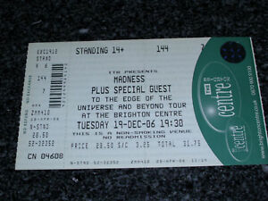 MADNESS-2006-Tour-BRIGHTON-Dec-19-UNUSED-Ticket-stub