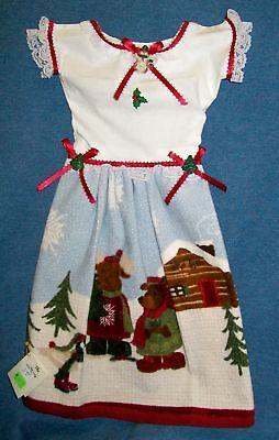 Winter Woods Holiday Kitchen Oven Door Dress Hand Towel 153a