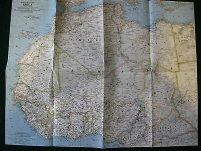 1966 NORTHWESTERN AFRICA NATIONAL GEOGRAPHIC MAP