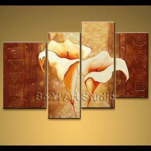 Modern-Contemporary-Canvas-Wall-Art-Cala-Lily-Flower-Hi-Q-Oil-Painting-BoYi