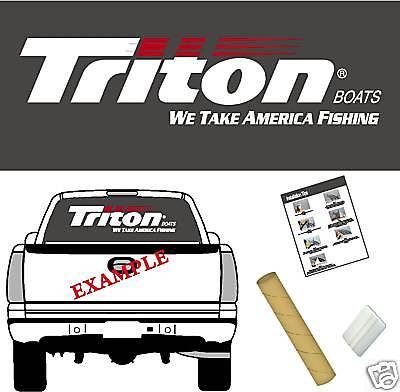 "TRITON Boats Logo / 42"" Vinyl Vehicle Decal Trailer Sticker Window Graphics"