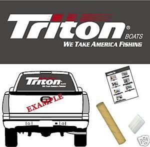 triton boats logo decal vinyl sticker graphic ebay. Black Bedroom Furniture Sets. Home Design Ideas