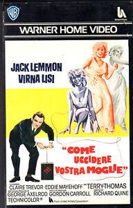 Come uccidere vostra moglie (1965) VHS 1a Ed. W.B. - Virna Lisi - Italia - L'oggetto può essere restituito - Italia
