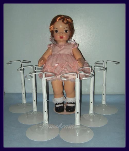 6 White Kaiser Doll Stands For Terri Lee Jerri Lee