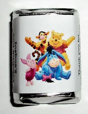 60 Winnie The Pooh Birthday Candy Wrappers Favors