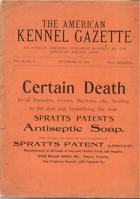 American Kennel Club Gazette  1898  Extremely Rare