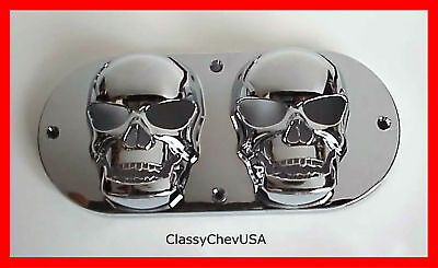 Double Small Skull Tail Light Lense Cover - 1p