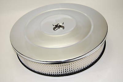 Chrome Pro Style 14 X 3 Air Cleaner Fits Holley Edelbrock Chevy Ford Mopar V8