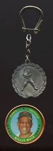 1969-Willie-Mays-Pewter-Key-Chain-1971-Topps-Coin-EX