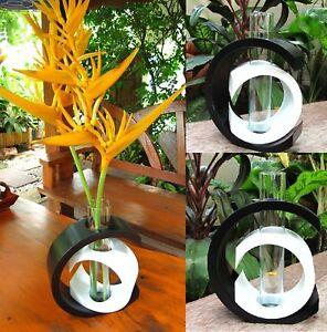 handmade modern mango wood vase home garden decor gift  ebay, Garden idea