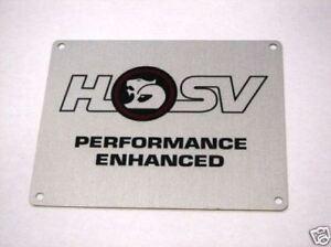 GENUINE HSV / HOLDEN BADGE / ENGINE TAG FOR