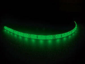 30CM-STRISCIA-STRIP-LED-3528-VERDE-GREEN-IMPERMEABILE