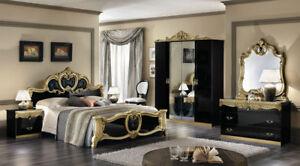 komplett möbel schlafzimmer stilmöbel italien barocco barock