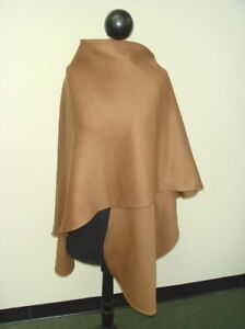 Dark Camel Loro Piana 100% Cashmere Wrap Cape