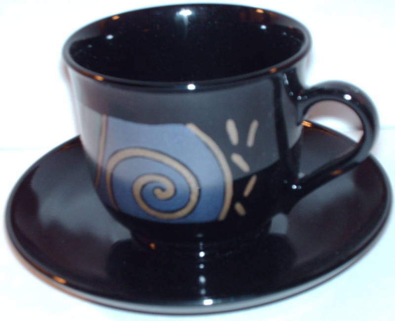 Arcoroc Tampico Geometric Cup & Saucer France