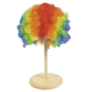 1 Rainbow Clown Wig-Halloween Fun Giveaways Party Favor