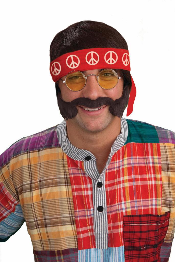 Hippie Kit Cheech Set Hippie Set Men's Groovy Halloween Costume Accessory