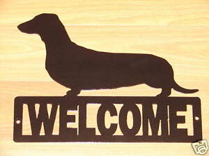 Image Is Loading Dachshund Welcome Sign Dog Home Decor K9 Plaque