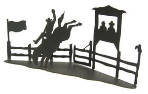 Bronc-buster-black-metal-3-D-silhouette