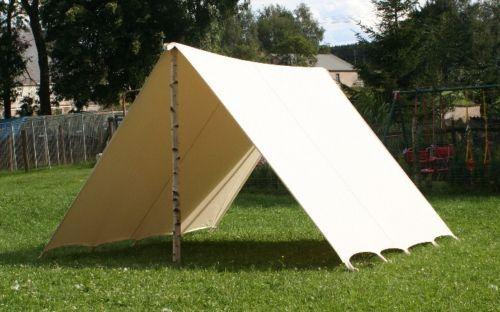 Reenactment Weißzelt Lagerplane Mittelalter Zelt Vorzelt Wikinger larp tarp