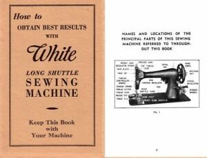 USER-INSTRUCTIONS-WHITE-LONG-SHUTTLE-TREADLE-ELECTRIC