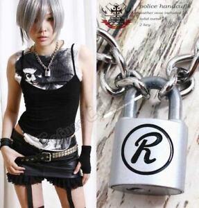 Punk-SEX-PISTOLS-Rabbit-R-LOCK-padlock-necklace-Chain-S