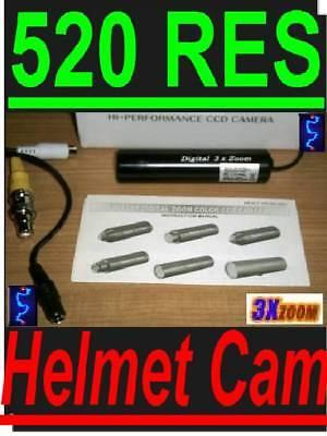 Sony Hi-res Color Helmet Camera Lipstick Cam Lens H2o A