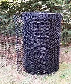 Rabbit-Groundhog-Black-vinyl-coated-WIRE-FENCE-fencing-24-X-100