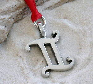 GEMINI-June-ZODIAC-Pewter-Christmas-ORNAMENT-Holiday