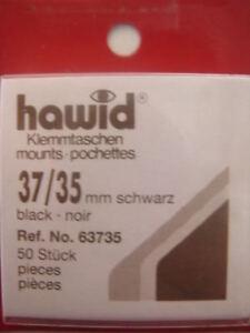 250-5x50-HAWID-37-35MM-MONTAJES-DE-SELLO-NEGRO-GB-COMMS-ART-CULOS