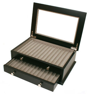 Pen-Box-26-Fountain-Pens-Writing-Instruments-Case-BLack
