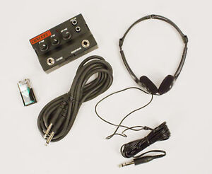 new guitar bass headphone amplifier with headphones 10 cable duracell 9v. Black Bedroom Furniture Sets. Home Design Ideas
