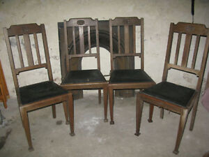 Art Deco Dining Chairs and Table