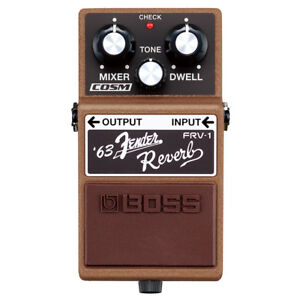 Boss-FRV-1-Fender-Reverb-Guitar-Effects-Pedal-frv1-INCLUDING-PATCH-CABLE