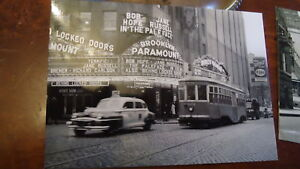 1948  Paramount Theatre Trolley Brooklyn NYC Post Card