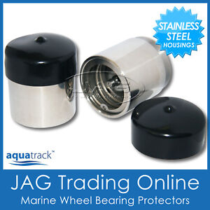 STAINLESS-STEEL-Marine-Trailer-Wheel-Bearing-Buddy-Protectors-Boat-Caravan-RV